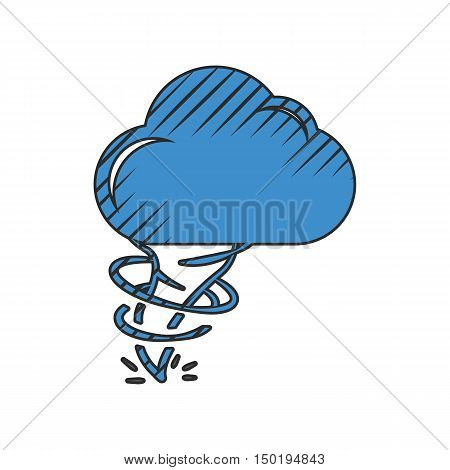 hurricane icon on white background for web