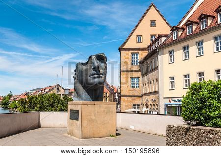 Bamberg Germany - May 22 2016: Centurione I sculpture by Igor Mitoraj Bamberg Upper Franconia Franconia Bavaria Germany Europe.