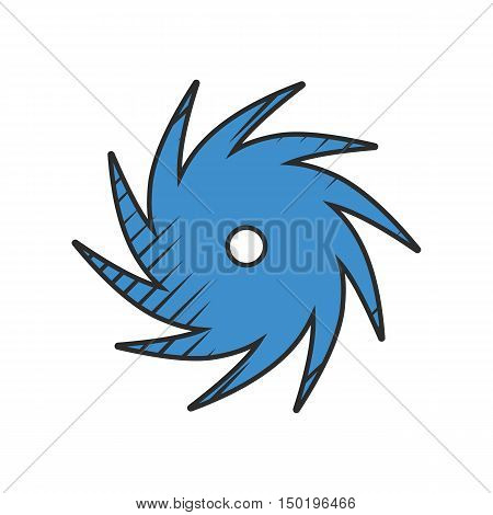 hurricane icon on white background for web