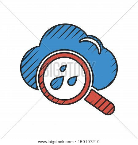 weather icon on white background for web