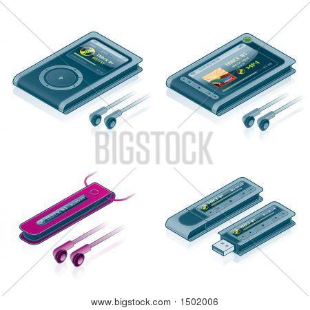 Computer Hardware Icons Set - Design Elements 57B
