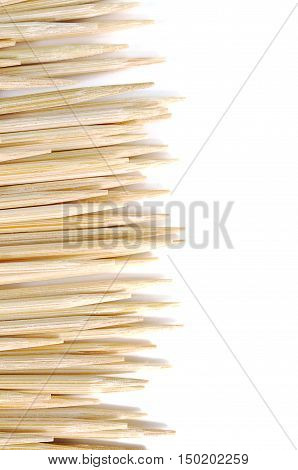toothpicks flag clean close up isolated texture.