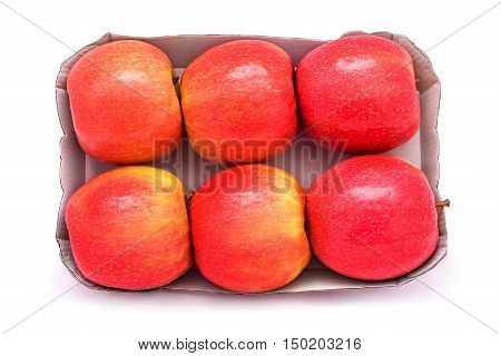 apples pack studio isolated on white background