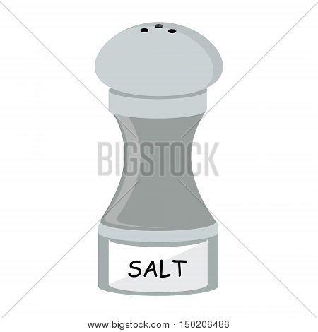 Salt vector icon. Salt shaker vector illustration. Seasoning for cooking