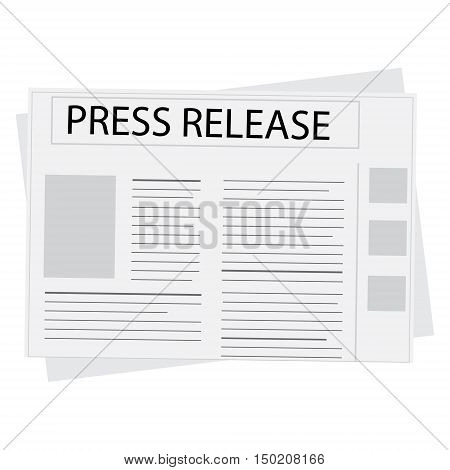 Vector illustration newspaper icon with header press release