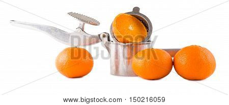 Juice extractor manual and oranges isolate a