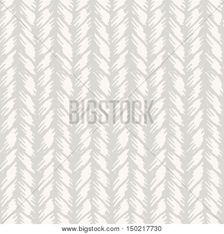 Decorative knit seamless pattern. Hand drawn endless light knitting ornament. Trendy messy knitwork texture. Vector design for cloth, backdrops, apparel, wrapping, wallpaper poster
