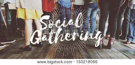 Social Gathering Together Community Teamwork Concept