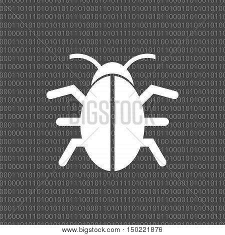 Software bug icon, program bug icon - vector