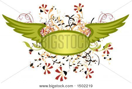 Backdrop, Grunge, Floral Design