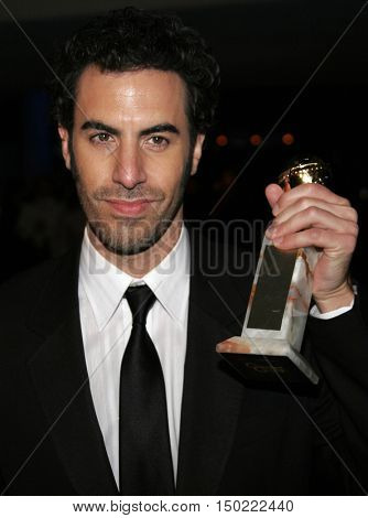 Sacha Baron Cohen at the Paramount Pictures' 2007 Golden Globe Award After-Party held at the Beverly Hilton Hotel in Beverly Hills, USA on January 15, 2007.