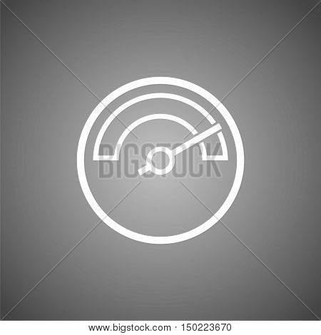 Meter icons, Symbols of speedometers, manometers on gray background