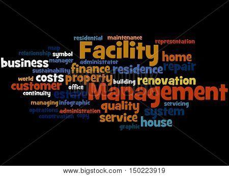 Facility Management, Word Cloud Concept 8