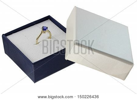A jewelry box with set jewelery on white background