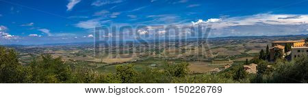 Panoramic View At Val D'orcia From Montalcino