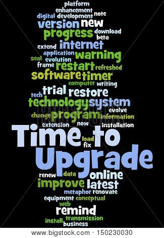 Time To Upgrade, Word Cloud Concept 9