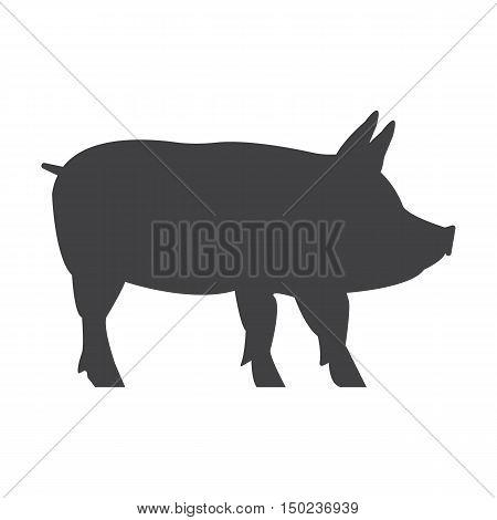 hog black simple icon on white background for web design