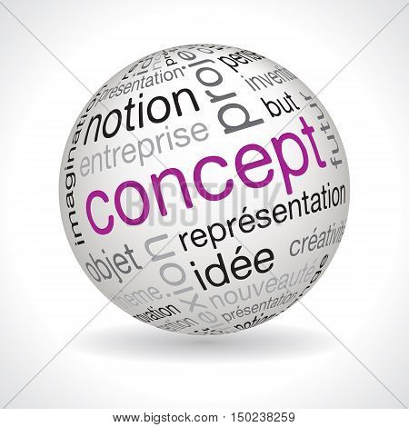 French Concept Theme Sphere