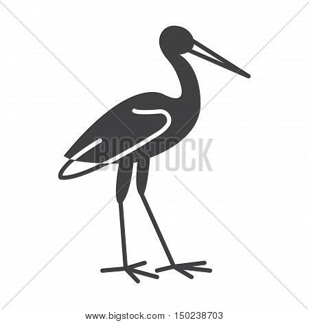 stork black simple icon on white background for web design
