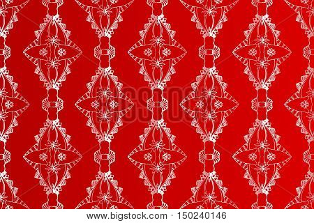 Abstract seamless vector pattern on red background. Can be used for design paper, fabric, packaging, websites, ceramic tiles.