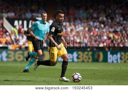 VALENCIA, SPAIN - OCTUBER 2nd: Correa during Spanish soccer league match between Valencia CF and Atletico de Madrid at Mestalla Stadium on Octuber 2, 2016 in Valencia, Spain