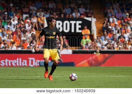 VALENCIA, SPAIN - OCTUBER 2nd: Savic during Spanish soccer league match between Valencia CF and Atletico de Madrid at Mestalla Stadium on Octuber 2, 2016 in Valencia, Spain