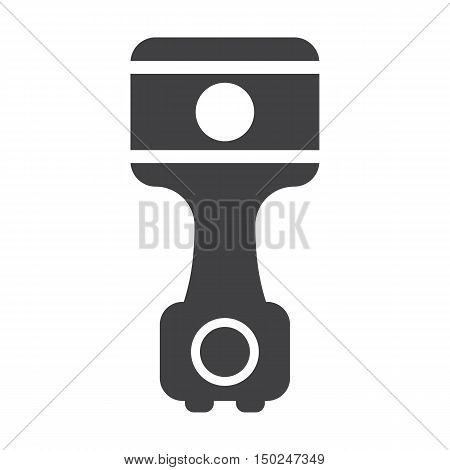 driveshaft black simple icon on white background for web design