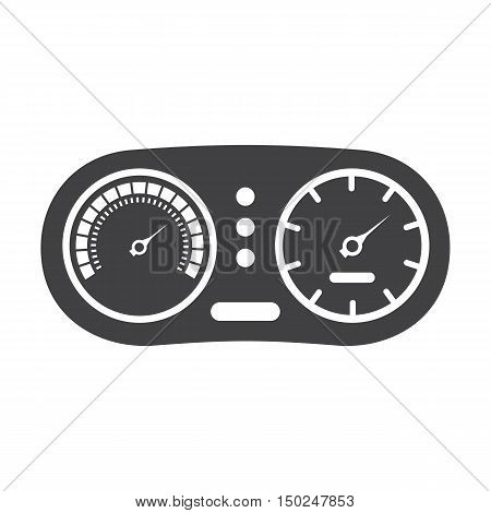 instrument panel black simple icon on white background for web design