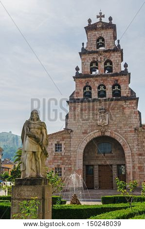 Statue Of Don Pelayo In Cangas De Onis