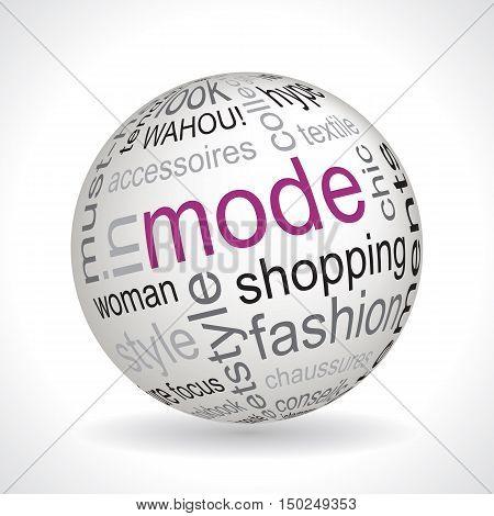 French Fashion Theme Sphere