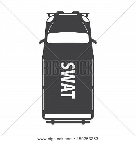 swat car black simple icon on white background for web design
