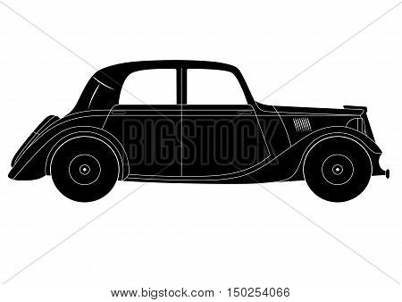 Illustration of the coupe - vintage model of car