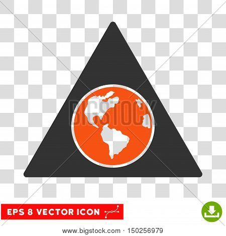Vector Terra Triangle EPS vector pictograph. Illustration style is flat iconic bicolor orange and gray symbol on a transparent background.
