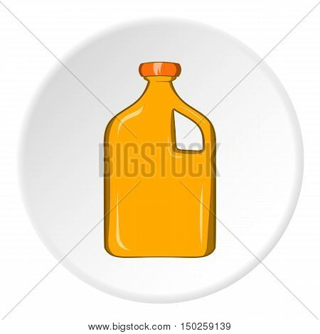 Packaging for engine oil icon in cartoon style isolated on white circle background. Production and packaging symbol vector illustration