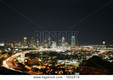 Dallas, Texas At Night