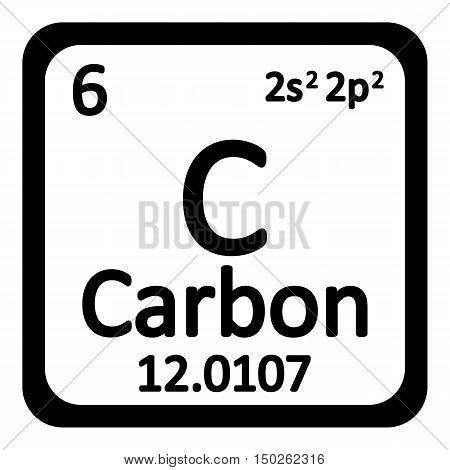 Periodic Table Element Carbon Icon Vector Photo Bigstock