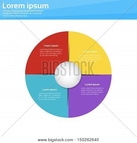 Finance Pie Diagram Circle Infographic with Financial Business Graph Vector Illustration