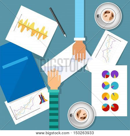 Business Meeting Workplace Finance Graph Charts Documents