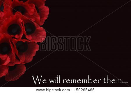 Abstract creative we will remember them greeting card scene