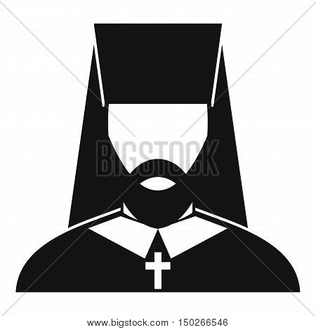 Orthodox priest icon in simple style on a white background vector illustration