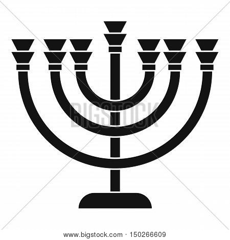 Menorah icon in simple style on a white background vector illustration