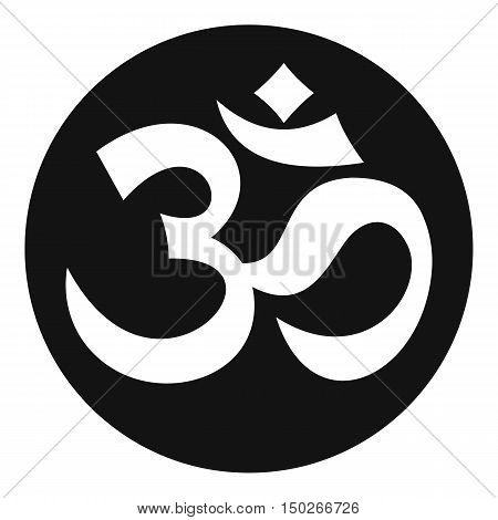 Symbol Aum icon in simple style on a white background vector illustration