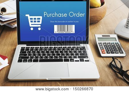 Purchase Order Shopping Discount Concept