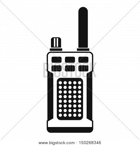 Portable handheld radio icon in simple style on a white background vector illustration