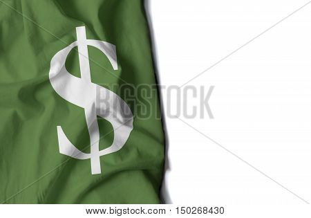 Dolar Wrinkled Flag, Space For Text