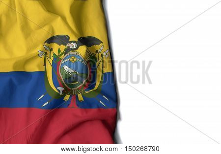 Ecuadorian Wrinkled Flag, Space For Text