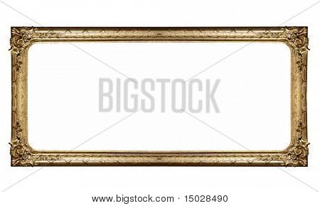 Isolated frame of painting in a museum