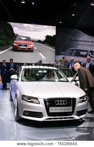 Audi A4 at the motor show IAA 2007 Germany