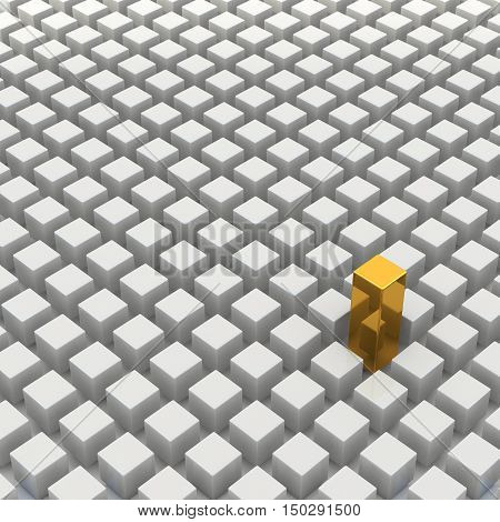 3D Rendering Abstract Cubic
