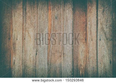 Uncoat wood pattern wall background with vintage style effect